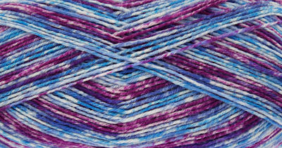 KING COLE ZIGZAG 4PLY SOCK WOOL 100 GRAM BALL - CHINESE VIOLET