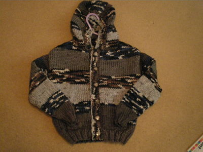 LOVELY BOYS MULTI HOODED CARDIGAN 4-5 YEARS