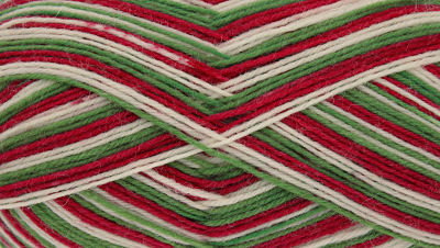 KING COLE ZIGZAG 4PLY SOCK WOOL 100 GRAM BALL - CHRISTMAS