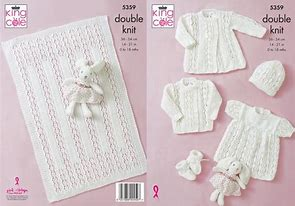 KING COLE BABY GIRLS DK KNITTING PATTERN (5359)