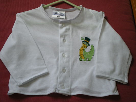 LOVELY BOYS HANDMADE LIGHTWEIGHT JACKET WITH DRAGON MOTIF AGE 9/12 MONTHS