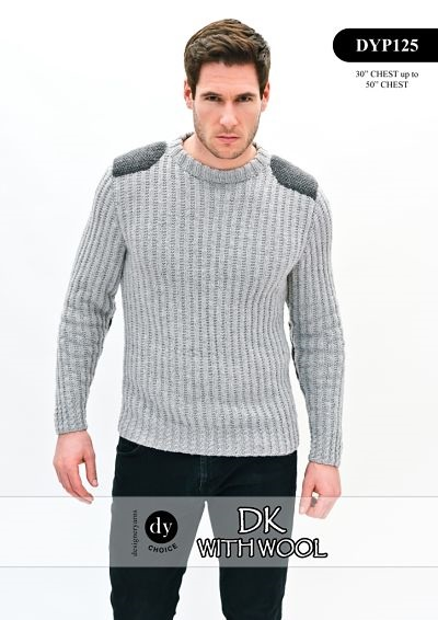 Knitting Pattern Jumper Mens : DESIGNER YARNS
