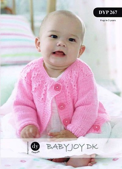 DY BABIES CARDIGAN AND BLANKET KNITTING PATTERN DYP267