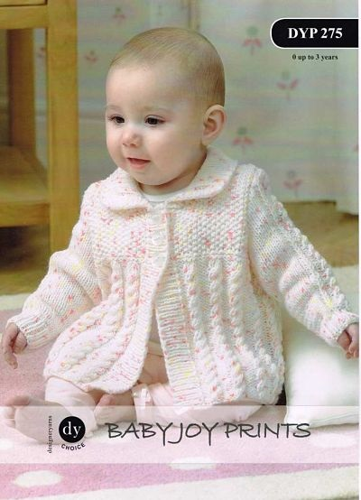 DY BABY JOY DK CARDIGAN AND BLANKET KNITTING PATTERN DYP275