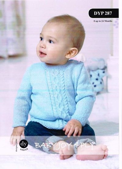 DY BABIES 4PLY JUMPER AND HAT KNITTING PATTERN DYP287