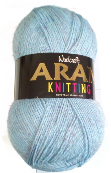 WOOLCRAFT ARAN WITH WOOL 400 GRAM BALL - FISHER (900)