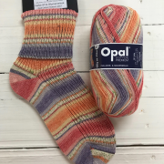 NEW OUT OPAL COTTON PREMIUM 4PLY SOCK WOOL 100 GRAM BALL FLOWER MEADOW (9711)