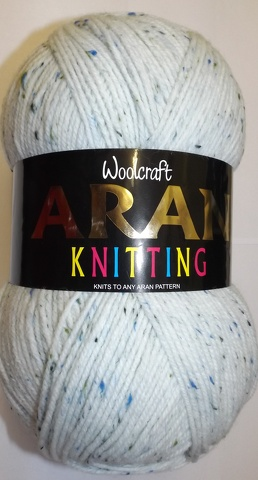 WOOLCRAFT ARAN WITH WOOL 400 GRAM BALLS ISLAND TWEED