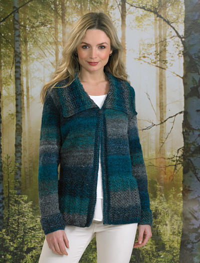 JAMES BRETT LADIES CARDIGAN KNITTING PATTERN (JB494