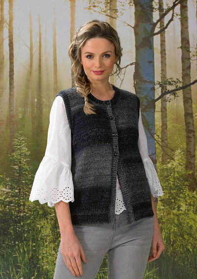 JAMES BRETT LADIES WAISTCOAT KNITTING PATTERN (JB569)