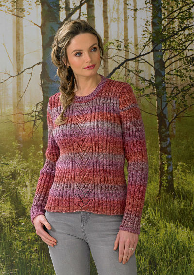JAMES BRETT LADIES JUMPER KNITTING PATTERN (JB568)