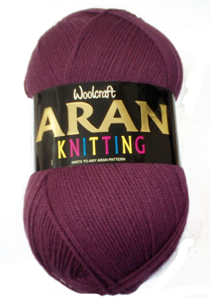 WOOLCRAFT ARAN WITH WOOL 400 GRAM BALL JUNIPAR (854)