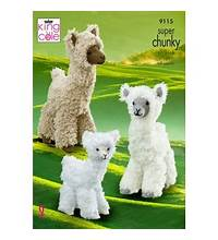 KING COLE ALPACA KNITTING PATTERN - (9115)