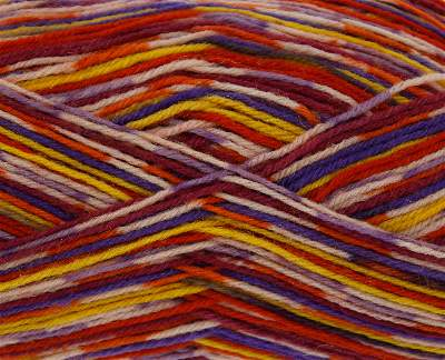 KING COLE ZIG ZAG 4PLY SOCK WOOL COMES WITH FREE SOCK PATTERN MISHMASH