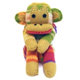WENDY FOUR LEGGED FRIENDS MONKEY SCARF KIT RAINBOW
