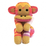 WENDY FOUR LEGGED FRIENDS MONKEY SCARF KIT SHERBET