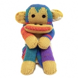 WENDY FOUR LEGGED FRIENDS MONKEY SCARF KIT SKY