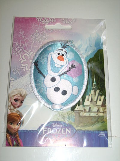 DISNEY FROZEN PADDED IRON ON MOTIF OLAF