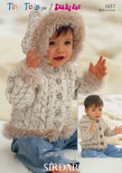 SORDAR TINY TOTS/FUNKY FUR KNITTING PATTERN 1657