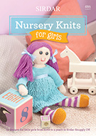 SIRDAR NURSERY KNITS FOR GIRLS KNITTING BOOK 486