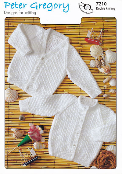 PETER GREGORY BABIES DOUBLE KNIT KNITTING PATTERN (PG7210)