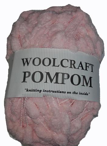 WOOLCRAFT POMPOM YARN 200 GRAM BALL PINK