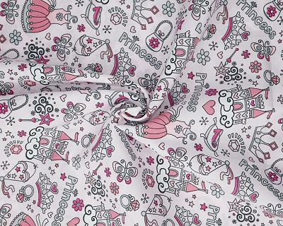 PINK PRINCESS POLY COTTON FABRIC - 44 INCHES WIDE - PRICE PER METER