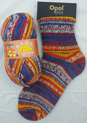 OPAL 4PLY SOCK WOOL POPCORN 100 GRAM BALL ALEX & WANDA (9100)