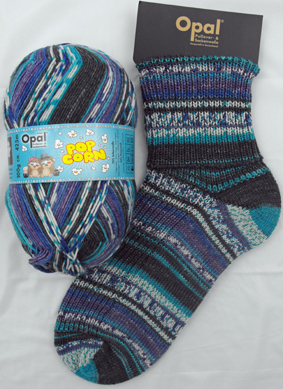OPAL 4PLY SOCK WOOL POPCORN 100 GRAM BALL LISEL AND PETER (9101)