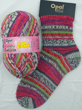 OPAL 4PLY SOCK WOOL POPCORN 100 GRAM BALL LOTTIE & HANS (9102)