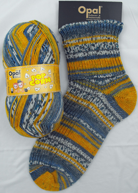 OPAL 4PLY SOCK WOOL POPCORN 100 GRAM BALL DANA & ROB (9104)