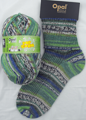 OPAL 4PLY SOCK WOOL POPCORN 100 GRAM BALL MICHA & CONNY (9105)