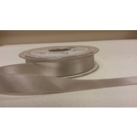 BERTIE BOWS DOUBLE FACED SATIN RIBBON 15MM SILVER GREY