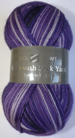 WOOLCRAFT 4PLY SUPERWASH SOCK WOOL 100 GRAM BALL BURLINGTON