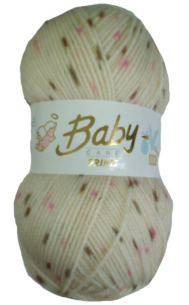 NEW COLOUR OUT WOOLCRAFT BABY SPOT PRINT DK 100 GRAM BALL (652)