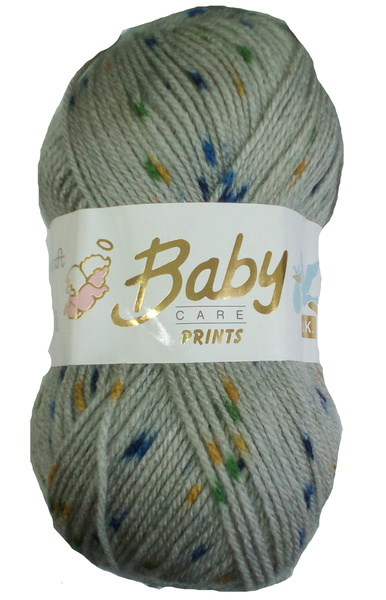 NEW COLOUR OUT WOOLCRAFT BABY SPOT PRINT DK 100 GRAM BALL (654)