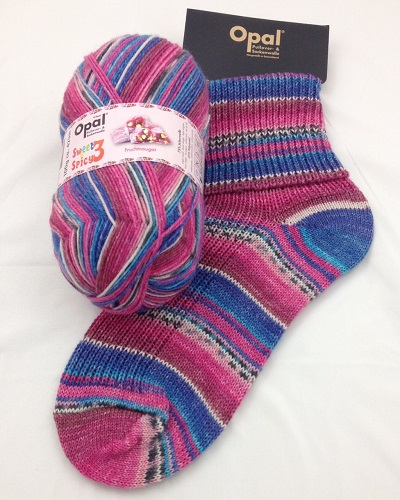 OPAL 4PLY SOCK WOOL 100 GRAM BALL SWEET & SPICY 3 FRENCH NOUGHT(9120)