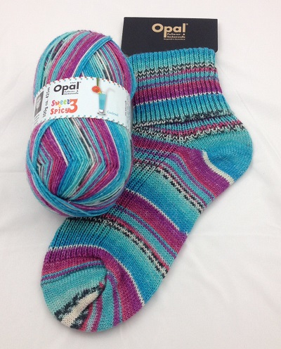 OPAL 4PLY SOCK WOOL 100 GRAM BALL SWEET & SPICY 3 COCTAIL (9123)