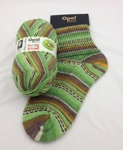 OPAL 4PLY SOCK WOOL 100 GRAM BALL SWEET & SPICY 3 KIWI (9124)