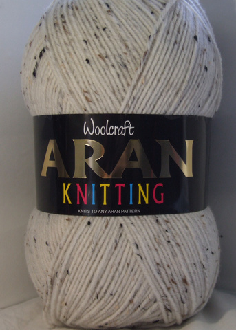 WOOLCRAFT ARAN WITH WOOL 400 GRAM BALLS STARLING