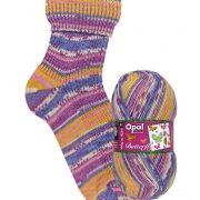 NEW OUT OPAL 4PLY SOCK WOOL 100 GRAM BALL BUTTERFLY SUNNY SIGHTSEEINGS (9651)