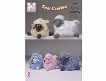 KING COLE SHEEP TEA COSY KNITTING PATTERN -(9119)