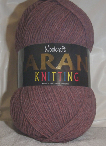 WOOLCRAFT ARAN WITH WOOL 400 GRAM BALL THISTLE (824)