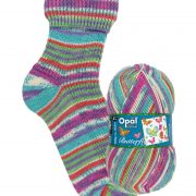 NEW OUT OPAL 4PLY SOCK WOOL 100 GRAM BALL BUTTERFLY UNFOLDED ELEGANCE (9656)