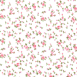 WHITE WITH PINK FLOWERS 112CMS WIDE PRICE PER METER