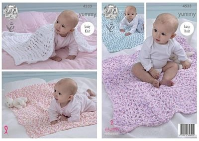 NEW OUT KING COLE YUMMY BLANKET PATTERN 4533
