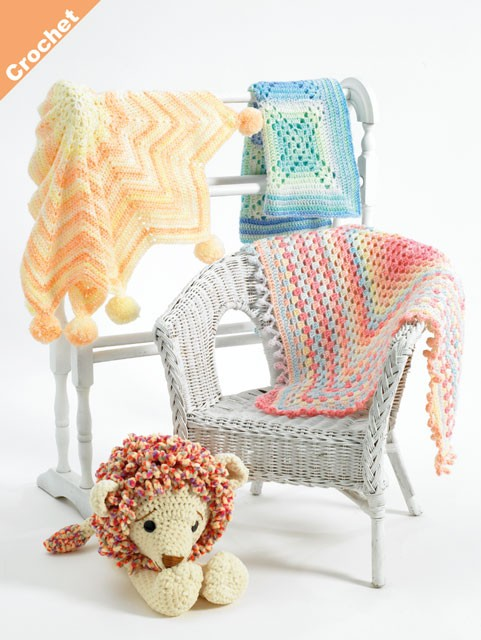 JAMES BRETT BABY CROCHET BLANKET PATTERN(JB408)