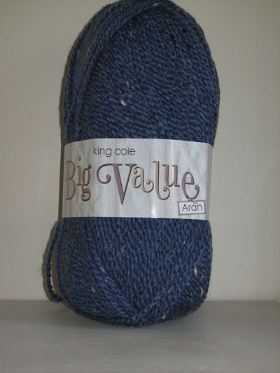 KING COLE BIG VALUE ARAN 100 GRAM BALL STORMY