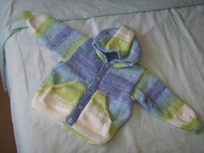 LOVELY BOYS HOODIE CARDIGAN AGE 6 - 12 MONTHS
