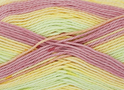 NEW OUT KING COLE COTTON SOFT CRUSH DK 100 GRAM BALL RAINBOW
